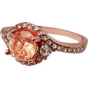 Morganite & Crystal Rose Gold Ring