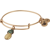 Alex and Ani Pineapple Color Infusion Charm Bangle Bracelet
