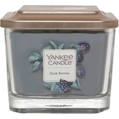 Yankee Candle Elevation Dark Berries 3 Wick Medium Square Jar Candle