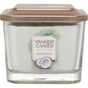 Yankee Candle Elevation Shore Breeze Medium 3 Wick Square Jar Candle