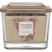 Yankee Candle Elevation Velvet Woods Medium 3 Wick Square Jar Candle