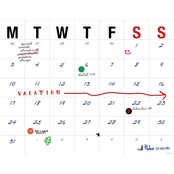 TF Publishing Open Dated Desk Pad Calendar