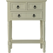 Decor Therapy 3 Drawer Console Accent Table