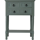 Decor Therapy 3 Drawer Console Accent Table with Rectangle Top
