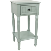 Decor Therapy Simplify 1 Drawer Square End Table