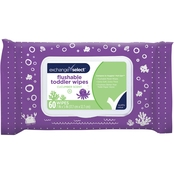 Exchange Select Flushable Cucumber Scented Toddler Wipes 60 ct.