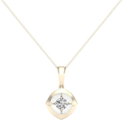 Magnificence 10K Gold 1/4 CTW Kite High Polished Pendant 18 In.