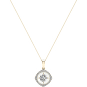 Magnificence 10K Gold 1/3 CTW Kite High Polished Pendant 18 In.