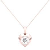 Magnificence 10K Gold 1/7 CTW Heart High Polished Pendant 18 In.