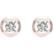 Magnificence 10K Gold 1/6 CTW Round Diamond Earrings