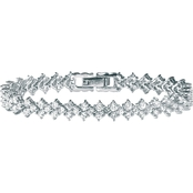 Palm Beach Platinum over Sterling Silver Cubic Zirconia Tennis Bracelet