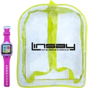Linsay HD Selfie Camera 1.5 in. Kids Smartwatch and Bag Pack