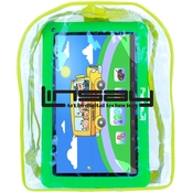 Linsay Kids Funny HD Quad Core Tablet and Bag Pack Bundle