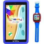 Linsay 7 in. Kids Funny Quad Core Tablet and Smart Watch Bundle