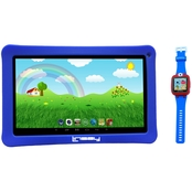 Linsay F10KBW Quad Core Tablet and Smart Watch Bundle