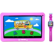 Linsay 10.1 in. Kids Funny Quad Core Tablet and Smart Watch Bundle