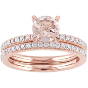 Sofia B. 14K Rose Gold Morganite and 5/8 CTW Diamond Bridal Set