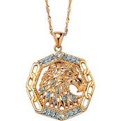 PalmBeach 10K Yellow Gold Eagle Pendant with Diamond Accents