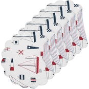 C & F Home 17 in. Round Reversible Placemat 6 Pk.