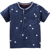 OshKosh B'gosh Infant Boys Henley Tee With Stars