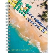 TF Publishing July 2018 - June 2019 Tropical Beaches Medium Weekly Monthly Planner