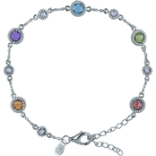 Robert Manse Designs Bali Rhodium Plated Silver Multi Gem Bracelet