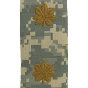 Army Rank MAJ ACU Digital Sew On 2 pc.