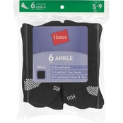 Hanes Red Label Women's Ankle Socks, 6 Pk.