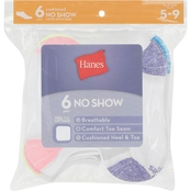 Hanes Red Label Women's No Show Socks, 6 Pk.