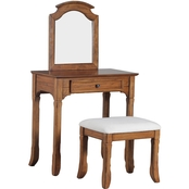 Powell Oakdale Vanity with Stool