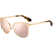 Kate Spade Squared Metal with Plastic Temple Tips Sunglasses GENICE/S