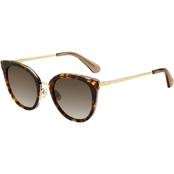 Kate Spade Rounded Plastic with Metal Temples Sunglasses JAZZLYN/S