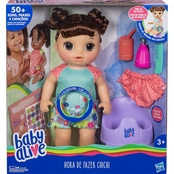 Hasbro Baby Alive Potty Dance Baby Doll, Brunette