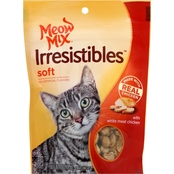 Meow Mix Irresistibles Soft Cat Treats with Real White Meat Chicken