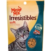 Meow Mix Irresistibles Soft Cat Treats with Salmon 3 oz.