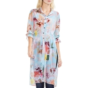 Vince Camuto Faded Blooms Side Tie Tunic