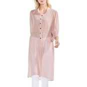Vince Camuto Chiffon Side Tie Long Tunic