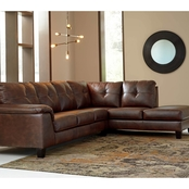 Signature Design by Ashley Goldstone 2 pc. RAF Corner Chaise Sectional