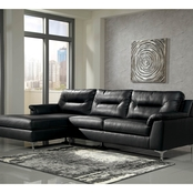 Signature Design by Ashley 2 pc. Tensas Sectional LAF Chaise/RAF Sofa