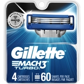 Gillette Mach3 Turbo Cartridges, 4 Pk.