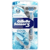 Gillette Sensor3 Cool Men's Disposable Razors, 5 Pk.