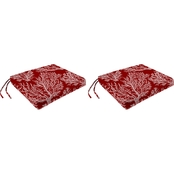 Jordan 19 x 17 x 2 in. Seat Cushion 2 pk.