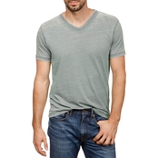 Lucky Brand Venice Burnout V Neck Tee