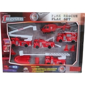 Agglo Corp Ltd 10 Pc. Fire Rescue Play Set