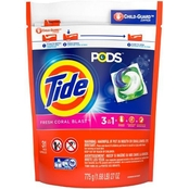 Tide Pods Fresh Coral Blast Laundry Detergent, 31 ct.