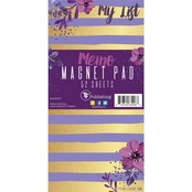 TF Publishing Violet and Gold Stripe Memo Magnet Pad