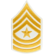 Army Chevron Male Staff Sergeant Major Gold/White