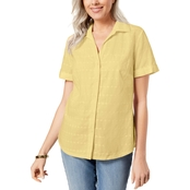 Karen Scott Petite Cotton Shirt