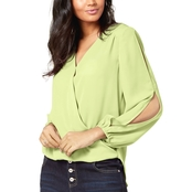 INC International Concepts Petite Split Sleeve Top