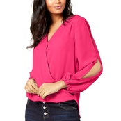 INC International Concepts Petite Split-Sleeve Top